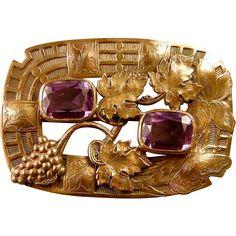 Art Nouveau shirt buttons gold plated double title 1910 French antique IRIS accessories man vintage