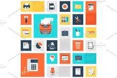 Office icons by vasabii on @creativemarket