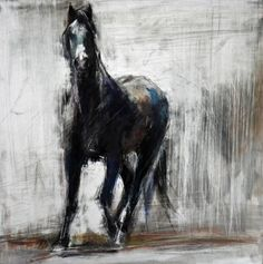 August by Dawn Emerson, mixed media- ink, oil pastel and acrylic on clayboard Abstract Animals, Abstract Art, Art Et Architecture, Horse Artwork, Colley, Rainbow Painting, Cow Art, Horse Drawings, Horse Sculpture