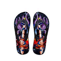 16357eca858e Beerus Destruction God Vs Goku Fight Cool Sandals Flip Flops Shoes  dbz   flipflops