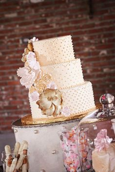 Wedding Cake by The Sweet Life Bakery in New Orleans