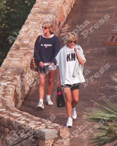 Holiday with Lady Somerset.  Diana on right.