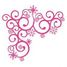 Snowflake Flourish Corner