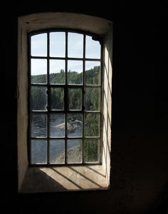 a window with a view Security Gates, Window View, Through The Window, Windows And Doors, Old World, Lighthouse, Countryside, Abandoned, Entrance