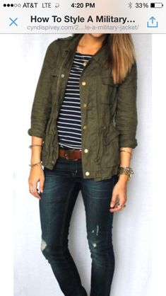 How to style a military jacket