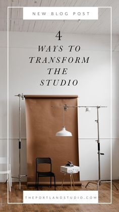 4 Ways to Transform the Studio 4 Ways to Transform our Photography Studio Save for photo shoot inspiration. The post 4 Ways to Transform the Studio appeared first on Fotografie. Photography Studio Setup, Photography Backdrops, Photography Lighting, Fashion Photography, Product Photography, Photography Books, Photography Studios, Photography Ideas, Photography Composition
