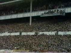 The Shelf side, when it was 'proper'. Great atmosphere in those days Spurs Fans, Football Casuals, Tottenham Hotspur Fc, North London, Great Britain, Railroad Tracks, Places To Visit, Shelf, Sport