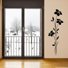 Slim Flowers Wall Decals