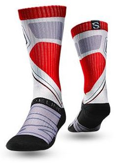 Strideline Sock Optics RED These red, black, and white sport socks are a must have from Strideline! These new Strideline Optics series socks have HYPER-INFUSED INK. This means that the co