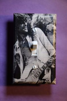 Led Zeppelin Light Switch rock music guitar room home decor Page Rock man cave