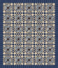 Union Blues Quilt Kit by Barbara Brackman for Moda,  CentralFabrications