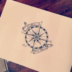 Rosadeiventi tattoo Follow your dreams