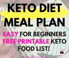 Easy Keto Meal Plan for beginners with free printable Ketogenic food list. Simpl… Easy Keto Meal Plan for beginners with free printable Ketogenic food list. Simple, easy, cheap Keto Diet meals for on the go, kids, and family. Ketogenic Food List, Keto Food List, Ketogenic Diet For Beginners, Keto Diet For Beginners, Ketogenic Recipes, Food Lists, Keto Recipes, Keto Foods, Easy Keto Meal Plan