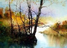 Check out the work of ZL Feng, one of our incredible participants at Artisphere, an art festival held annually in Greenville, SC. Watercolor Water, Art Painting, Landscape Paintings, Watercolor Trees, Painting, Art, Watercolor Landscape, Seascape Paintings, Landscape Art