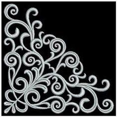 Satin Swirls Corner 4x4 (purchased):