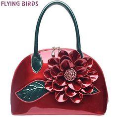 FLYING BIRDS! 2016 women handbag designer wedding tote women leather handbags bolsas bag flower summer women's pouch LM3028fb