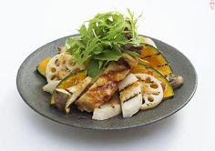 鶏肉と根菜のグリルサラダ