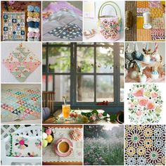 Delightful photo collage from Nana Company. Chiffon Evening Dresses, Christmas Decorations, Table Decorations, Halloween Pictures, Easy Quilts, Hand Quilting, Cross Stitch Designs, Craft Fairs, Dressmaking