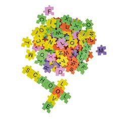 Moosgummi-Puzzlebuchstaben