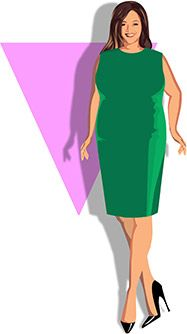 Resultado de imagen de BODY TYPES WOMEN INVERTED TRIANGLE PLUS SIZE PICTURES