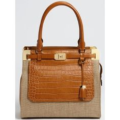 Michael Kors Croc Embossed Satchel