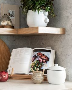 Kitchen Essentials, Studio Kitchen, Kitchen Design, Simple Centerpieces, White Canister Set, Studio Mcgee, Natural Wood Kitchen, Natural Wood, Latest Kitchen Designs