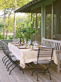 Outdoors dining.