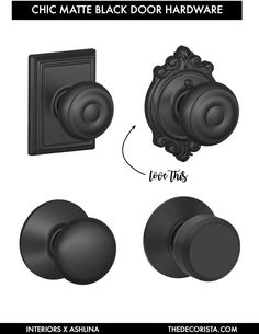 Weekend decorating idea: matte black door knobs — The Decorista