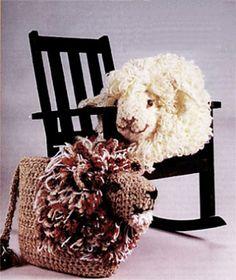 crochet Lion & Lamb Pillows