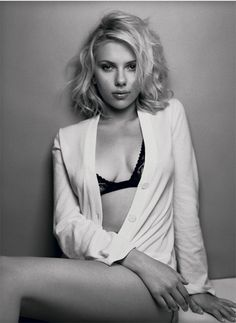 Scarlett Johansson | Medium-Length Waves #blonde #beauty #pmtslombard