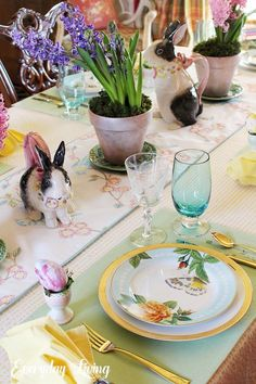table.quenalbertini: Spring Tablescape Blog Hop - Spring, Sweet Spring | Everyday Living