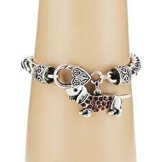 Crystal Dachshund Bracelet #50712-DACHSHUND