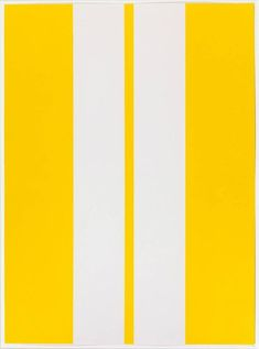 Available for sale from Susan Sheehan Gallery, John McLaughlin, Untitled Lithograph, 18 × 13 in Road Painting, Zen Painting, Hard Edge Painting, Yellow Art, Mellow Yellow, Abstract Painters, Abstract Art, Time Based Art, Post Painterly Abstraction