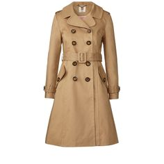 Orla Kiely: 100% cotton double breasted trenchcoat. This fitted trenchcoat has a rever collar, detachable belt, pockets to front and cuff tabs. Coat is fully lined in pink lining.     Length: 93.5cm (centre back)