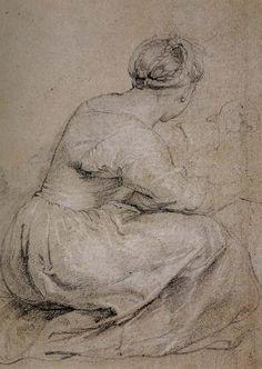Aklixi standing between her daughters - Peter Paul Rubens (1577-1640)