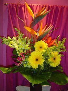 A flower arrangement called Vigor.