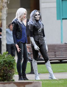 """((Ignore LiveWire)) silver banshee smirks. She screams and a dozen kids try to run off the playground. """"Stop now, Mariana"""" Silver Banshee laughs and turns to you. """"I prefer Silver Banshee."""" She says and she screams your way as you tumble. (Open RP)"""