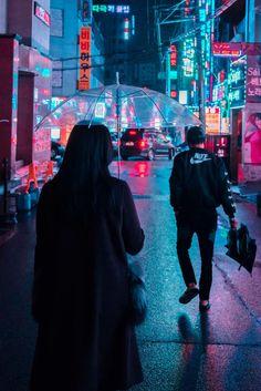 Cyberpunk, Neon And Futuristic Street Photos Of Seoul By Steve Roe South Korea Photography, Neon Photography, Street Photography, Art Cyberpunk, Cyberpunk Aesthetic, Aesthetic Korea, Neon Aesthetic, Neon Noir, Blade Runner