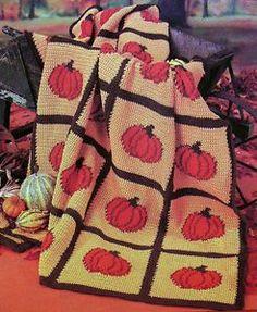 Halloween+Pumpkin+Crochet+Pattern | Pumpkin Afghan Crochet Pattern Only Autumn Halloween Thanksgiving Fall ...: