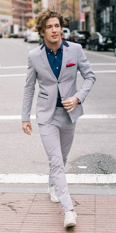 Gingham patterned suit