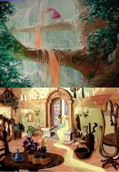 """Early concept art by Victoria Ying for Disney's """"Tangled"""" Tangled Concept Art, Disney Concept Art, Disney Fan Art, Disney Love, Arte Disney, Disney Magic, Animation Film, Disney Animation, Disney And Dreamworks"""