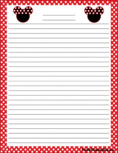 Mickey Stationery, Mickey Mouse, Stationery - Free Printable Ideas from Family Shoppingbag.com
