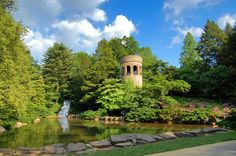 Longwood Gardens | Chimes tower and waterfall