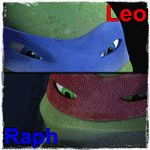 Brothers Raph and Leo gif. by Theresmorethanme.deviantart.com on @deviantART