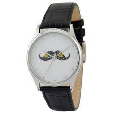 Moustache Watch Colorful by SandMwatch on Etsy, $39.00