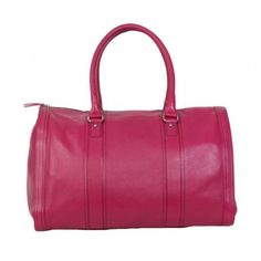 Bombay Leather Duffel Bag - Black, Fuchsia, Navy or Cognac! 18.0 in x 8.3 in x 11.5 in Availability: In stock  $200.00