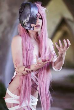 COSPLAY~★ 'costume play' character costume--!••• Lucy from 'Elfen Lied'