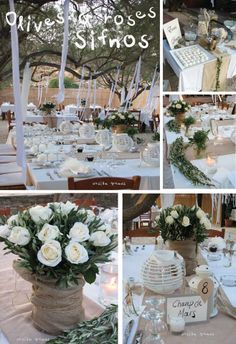 wedding decoration..white and simple..