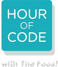 "Hour of Code with the Foos! Everyone everywhere can learn to code with The Foos award-winning ""no words"" interface."