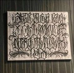 Chicano Tattoos Lettering, Tattoo Lettering Styles, Lettering Design, Tattoo Lettering Alphabet, Graffiti Lettering Alphabet, Alfabeto Tattoo, Images Alphabet, Letras Tattoo, Graffiti Drawing